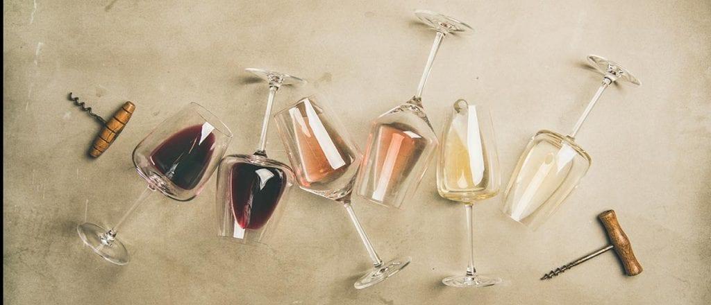 wine of different temperatures
