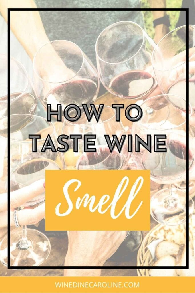 how to taste wine - smell - part 2 pinerest