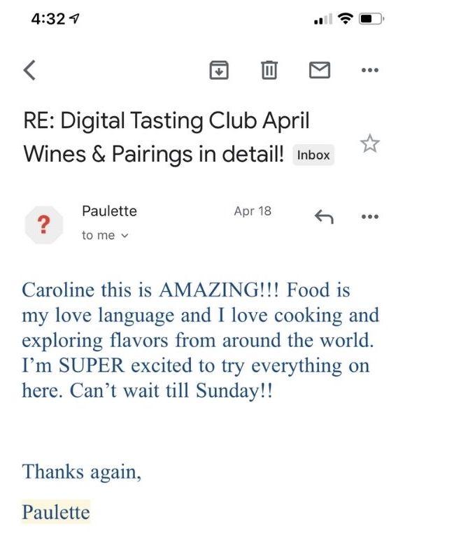 digital tasting club testimonials